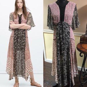 Zara boho dress XS